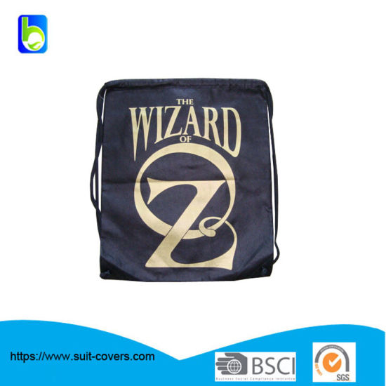 Drawstring Backpack Made of 210 D Polyester