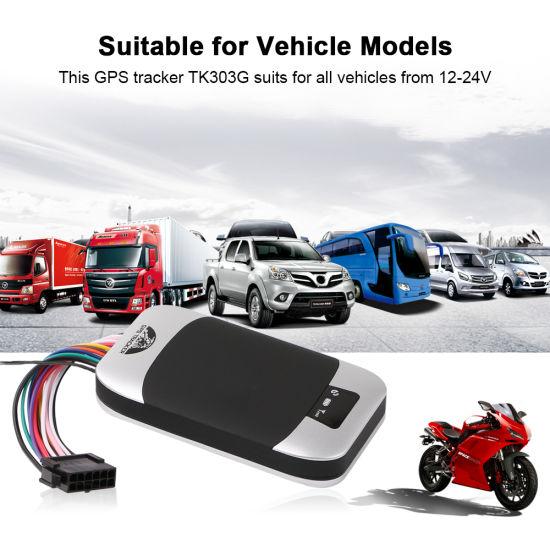 Car GPS Tracker Vehicle Tracker GSM GPS Locator Tk303G Waterproof IP66 Cut off Engine Geofence Free Web APP