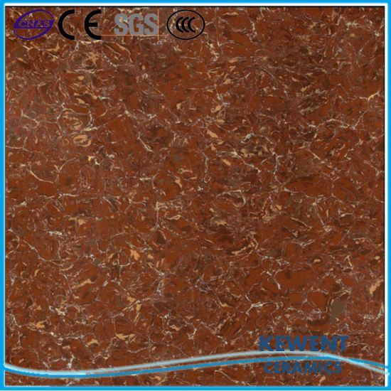 China Non Slip Double Loading Red Pulati Polished Porcelain Floor