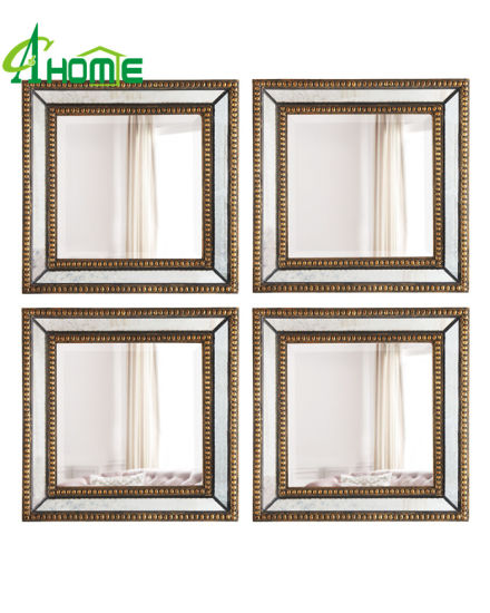 a Set of 4 Rectangle Home Decorative Wall Mirror pictures & photos