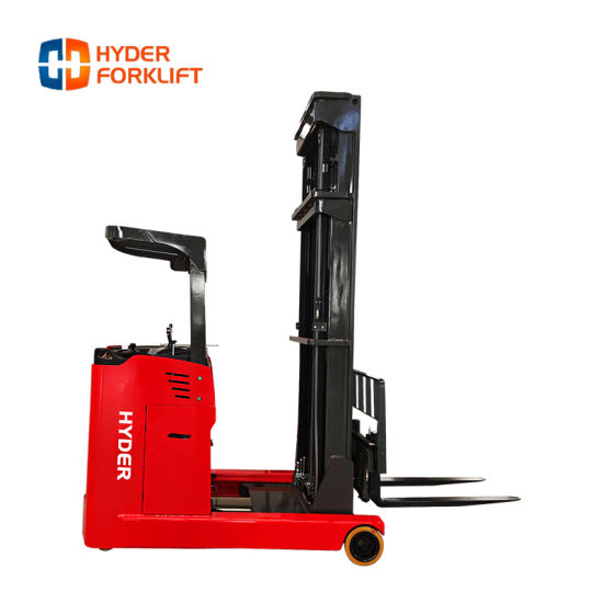 2 T Ton Narrow Aisle Pallet Stacker Electric Reach Forklift Truck
