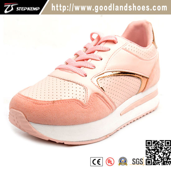 Fashion Lady Comfortable Pink Healthy Sneaker Shoe Women Casual Shoes (EXI-9155)