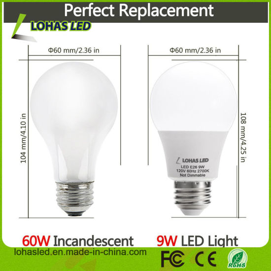 China Supplier LED Light Bulb A19 E26 3W 5W 7W 9W 12W Aluminum+Plastic Dimmable LED Bulb pictures & photos