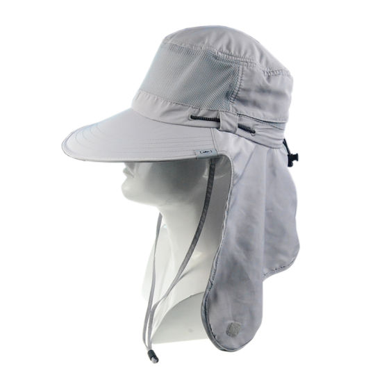 afbd366a China Custom Leisure Cap Wide Brim Sun Protection Hats with Ear Flap ...