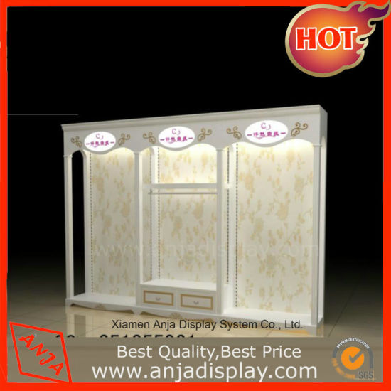 Wooden Retail Garment Rack Clothes Display Furniture for Shop