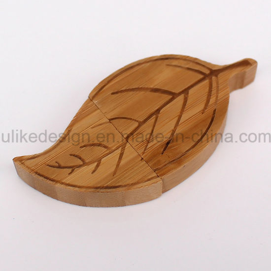 Leave Shape Wooden USB Flash Drive (UL-W013) pictures & photos