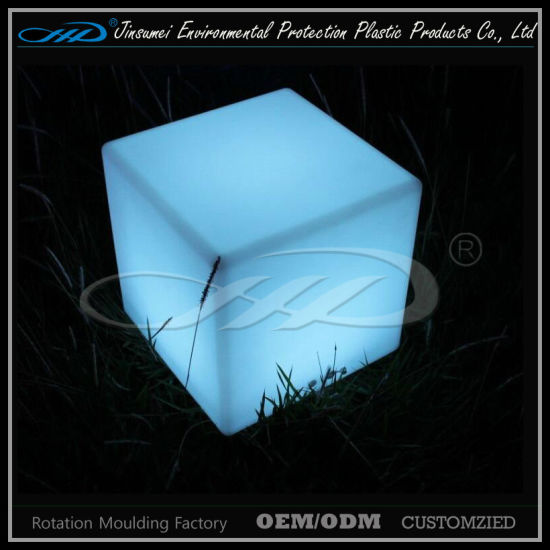 RGB PE Material Floating LED Cube Lighting Furniture