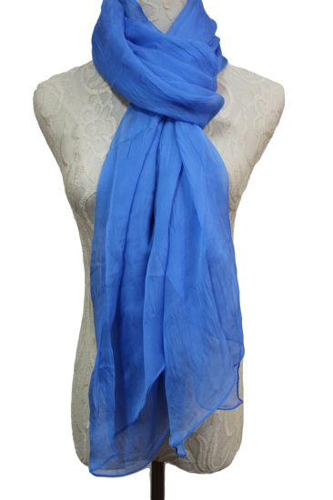 Fashion Dyed 100% Silk Crinkle Long Scarf pictures & photos