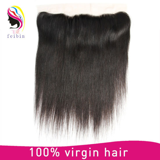 Real Human Hair Remy Brazilian Hair Straight Lace Frontal Closure pictures & photos