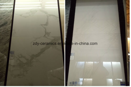 Building Material China Natural White Marble Look Stone Floor Porcelain Tile