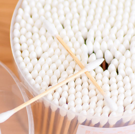 China Double Pointed End Make up Cotton Swabs Cotton Ear Buds Cotton Swab  with Wood Sticks - China Medical Supply, Medical Products