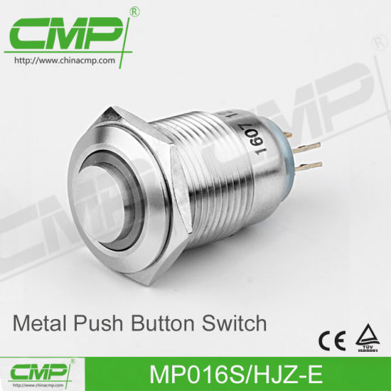 16mm Stainless Steel Push Button Switch (MP16S/HJ-E)
