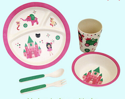 Eco-Friendly Bamboo Fiber Kids Dinnerware Sets (YK-BS1005) pictures & photos