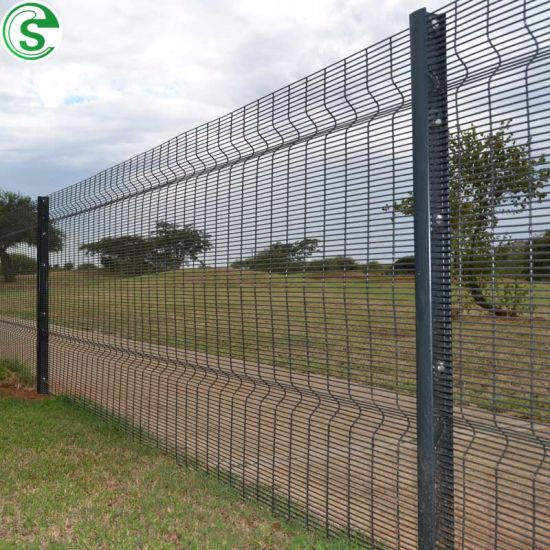 High Security Fence 0.5 Inch Mesh Anti Climb Weld Wire Fence