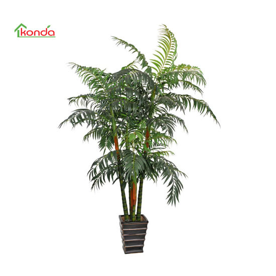 Home Outdoor Decorative Large Potted Green Artificial Tall Palm Tree