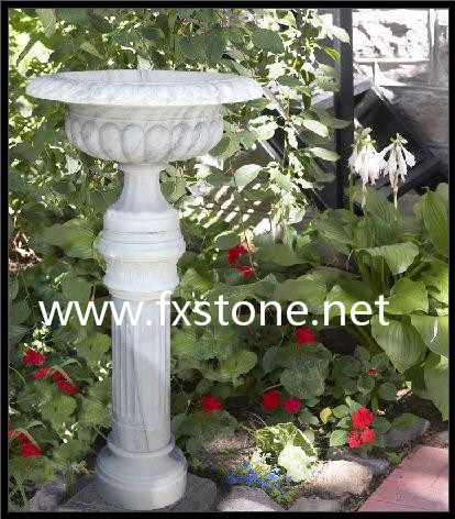 Carved Sandstone Garden Flower Pot pictures & photos