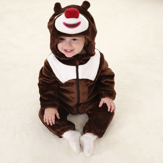 Cute Hooded Romper Clothes Baby Costume Animal Style Girl Boy Jumper Kids Outfit