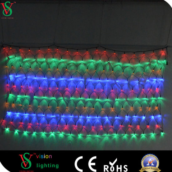 multi color led christmas decoration fancy net lights