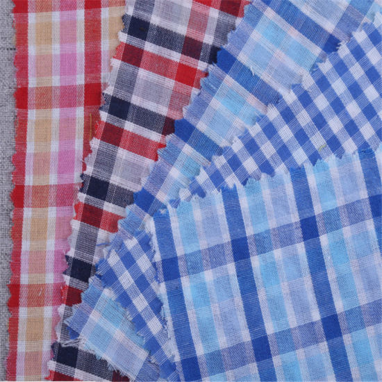 40s Woven 100% Cotton Yarn Dyed Check Fabric for Shirt. pictures & photos
