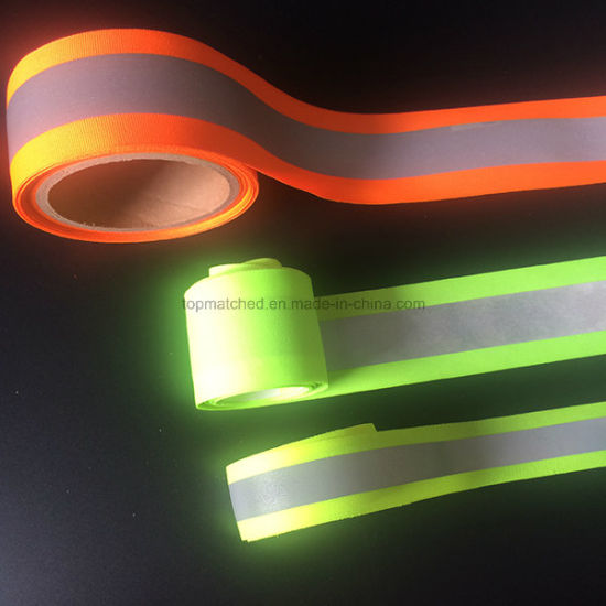 Hi-Vis Fire Flame Retardant Orange-Silver-Orange Reflective Tape pictures & photos