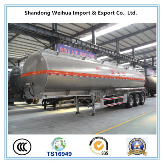 Tri-Axle 45m3 Aluminum Alloy Fuel Tank Trailer for Sale pictures & photos