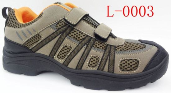 Hot Sale Hiking Shoes with PVC Injected Outsole (L-0003) pictures & photos