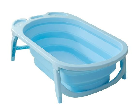 2018 New Design Baby Foldable Bathtub Plastic Inflatable Child Size Bath Tub  Baby Folding Bathtub For Kids Toddler