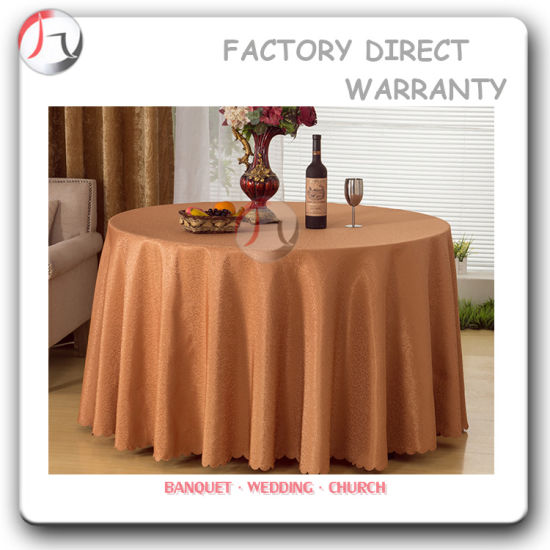Light Coffee Color Restaurant Long Fall Table Covers (TC 09)