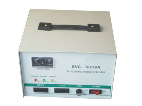 SVC Singe Phase High Accuracy Full Automatic AC Voltage Stabilizer pictures & photos