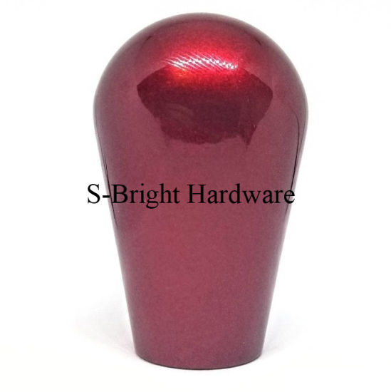 Customized Red Anodized Aluminium Al6061 CNC Machined Shift Knobs (F-097)