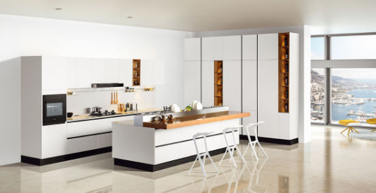Modern Red Lacquer Kitchen Cupboard (kq-001)
