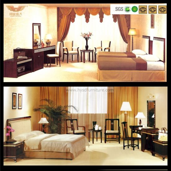 Modern Customized Wooden Hotel Bedroom Furniture Bedroom Set (HY-015) pictures & photos