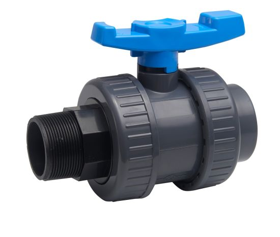 1 Inch Water Treatment Plastic PVC Male Double Union Ball Valve pictures & photos