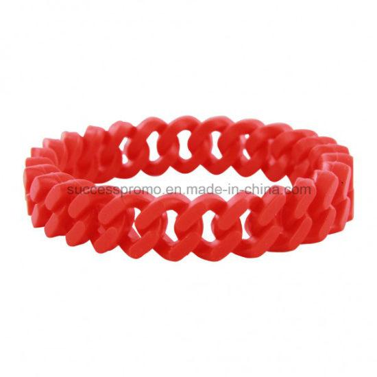 Promotional Silicone Twist Wristband Bracelet