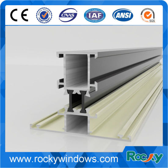 Rocky Thermal Barrier Aluminium Alloy Extrusion Profile pictures & photos