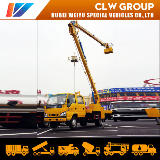 16meter High Altitude Working Vehicle 22meter Telescopic Type 18meter 20meter Aerial Platform Truck