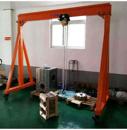 Adjustable Portable Mobile Gantry Cranes Steel, 0.5ton 1 Ton Light Duty Mini Lifting Gantry Crane for Sale