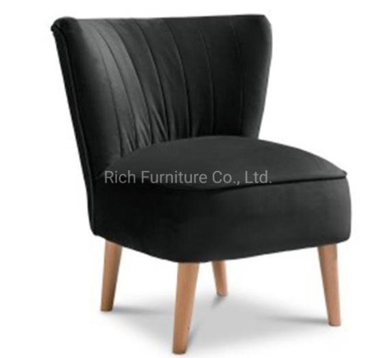 Astounding Poison Ebony Black Fabric Plush Accent Chair Living Room Comfort Dining Chair Machost Co Dining Chair Design Ideas Machostcouk