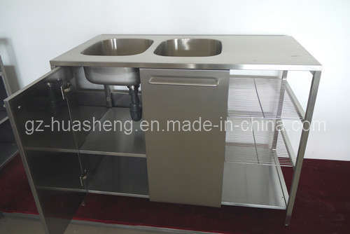 Kitchen Cabinet with Metal (HS-003) pictures & photos