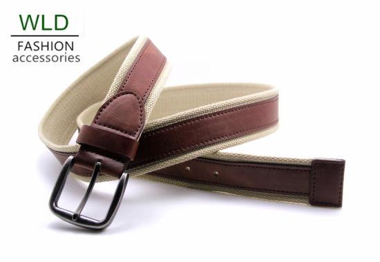 Fashion Canvas and PU Belt (CKY0191)
