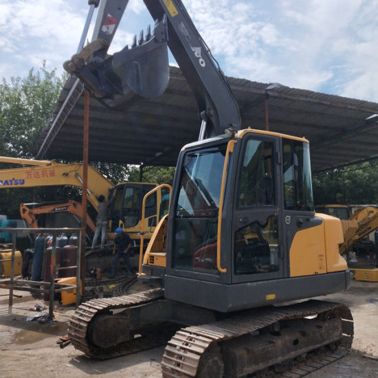 Cheap and Well Maintained Second Hand Volvo Ec80 Crawler Excavator for Sale