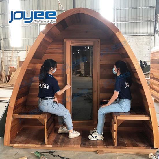 Joyee Traditional Rain Drop Outdoor Sauna Room Finnish Saunas with Harvia Sauna Heater for Wooden House