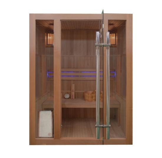 Wood Panel Steam Sauna Rooms, Portable Stove Sauna Cabin