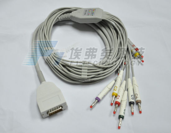 Burdick One 10d Lead EKG/ECG Cable pictures & photos