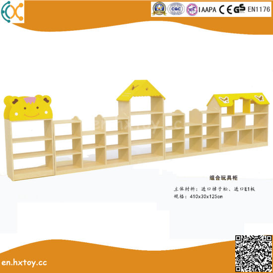 Preschool Kids Wooden Toy Shelf School Classroom Furniture