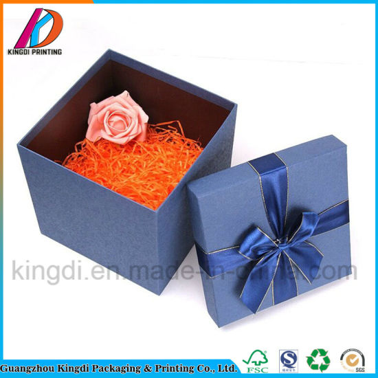 China Hot Sale Rigid Cardboard Gift Box With Ribbon China Gift Box