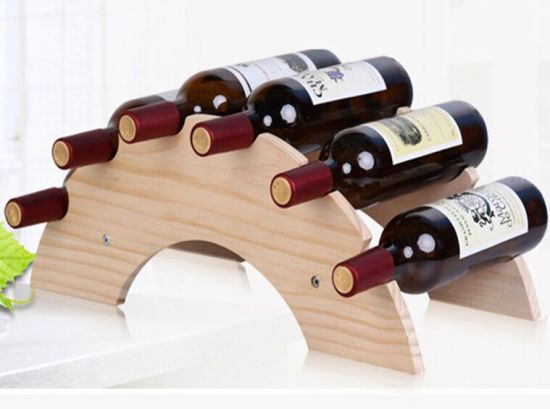 Wine Display Storage Holder Wood Wine Rack pictures & photos