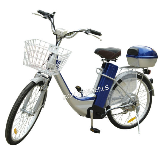 250W Brushless Motor City Electric Bike with Basket (EB-003)