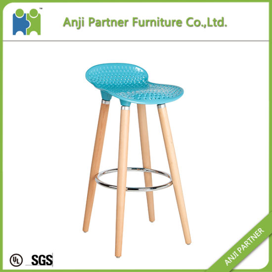 High Strength Plastic Beech Wood Legs Bar Stool for Heavy People (Barry) pictures & photos