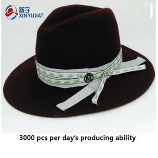 Fashion Decoration Ladies Wholesale Custom Wool Felt Fedora Hat